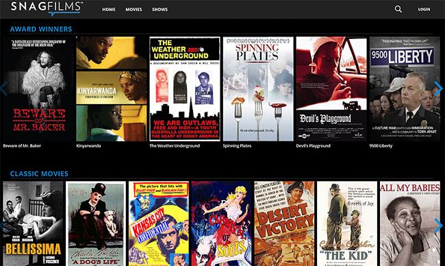 SnagFilms movies vpn