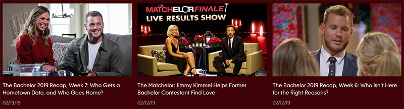 The Bachelor ABC shows free vpn
