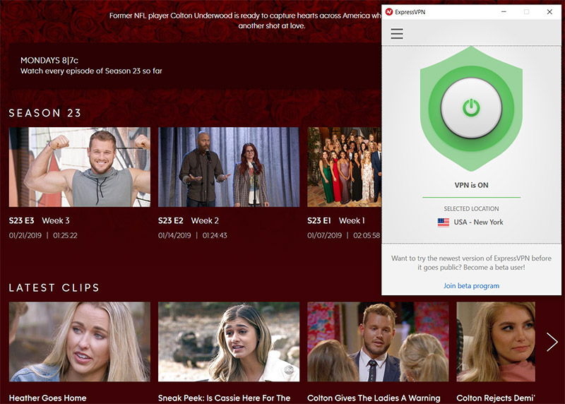 The Bachelor ABC watch online free vpn