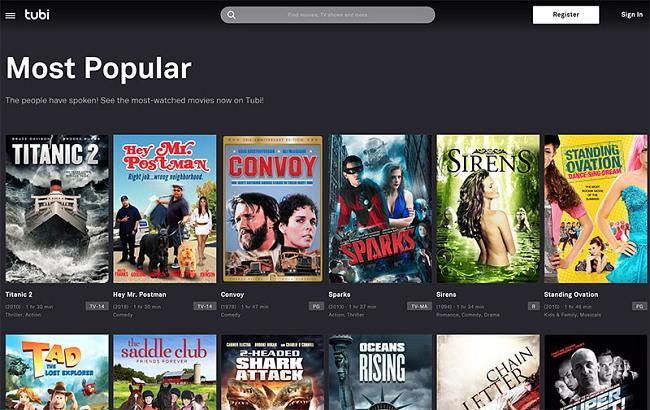 Tubi TV free movies online vpn
