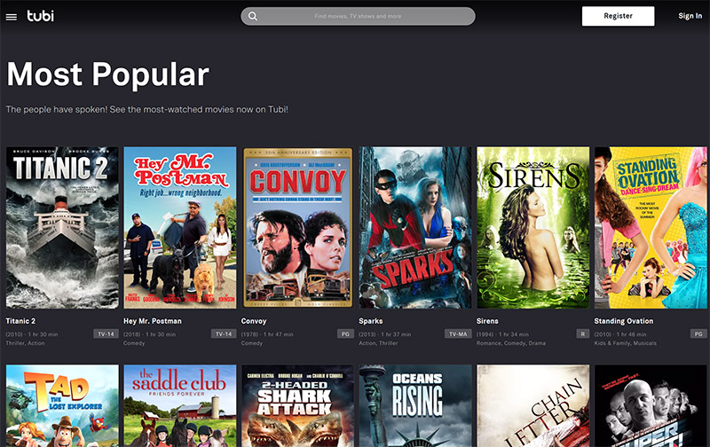 Tubi TV free movies online vpn