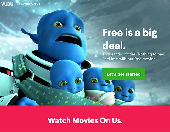 Vudu movies on us free