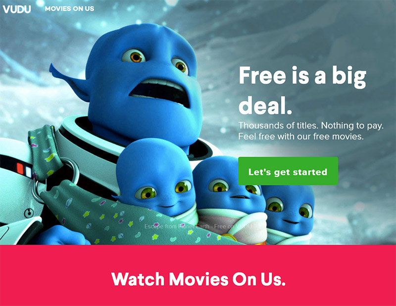Vudu movies on us free