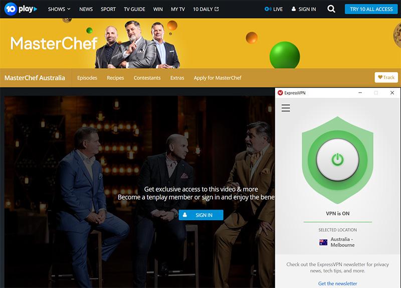 Watch MasterChef Australia online vpn