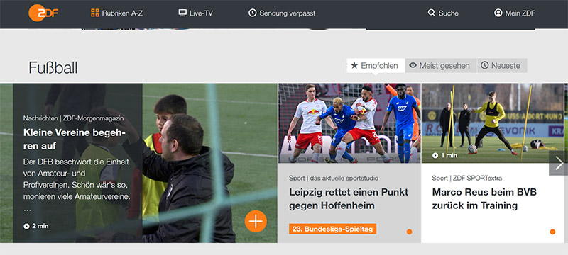 ZDF UEFA Nations League stream vpn