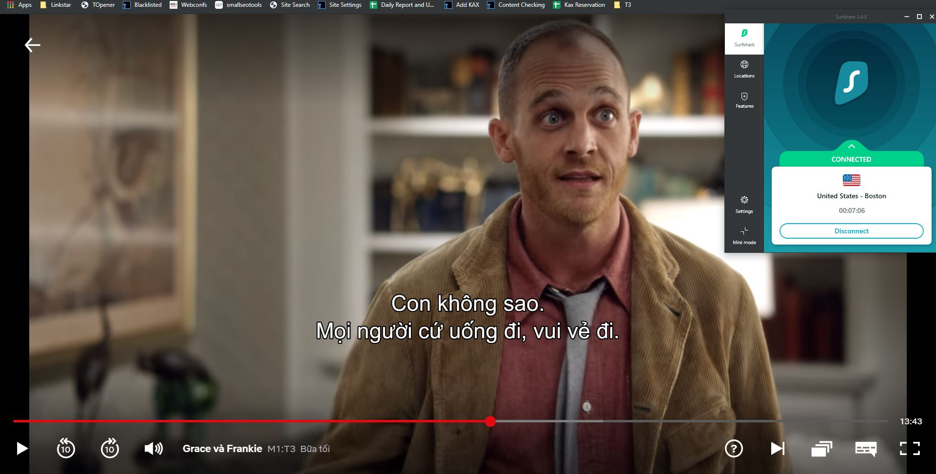 Streaming Netflix with SurfShark