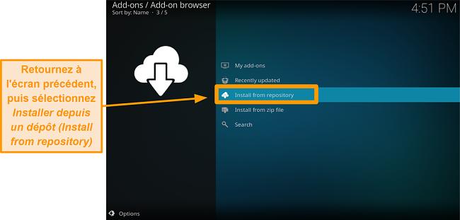 capture d'écran comment installer l'addon kodi tiers étape 17 cliquez sur installer à partir du référentiel