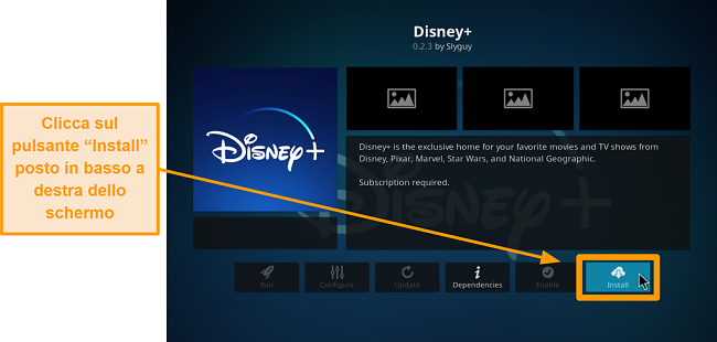 screenshot come installare l'addon Kodi di terze parti passo 22 fai clic su installa