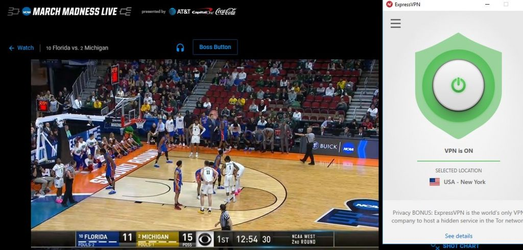 Stream March Madness with a VPN
