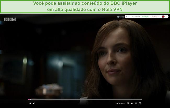 Captura de tela do Hola VPN desbloqueando Killing Eve no iPlayer da BBC