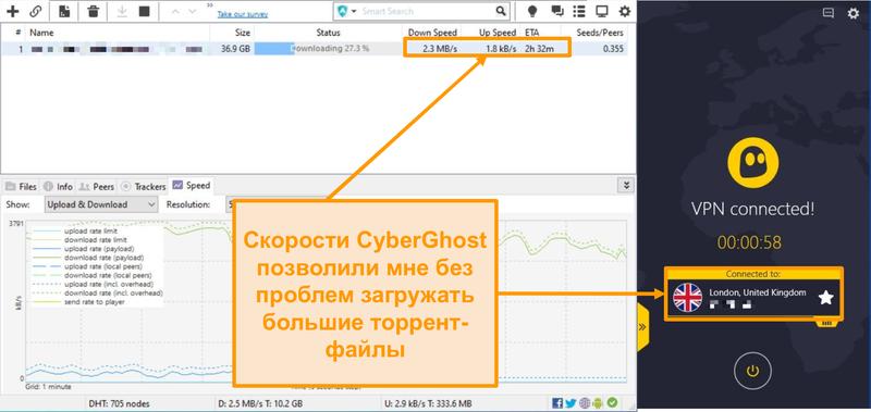 Скриншот загрузки торрент-файла BitTorrent