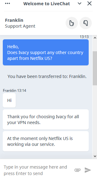 Streaming Netflix with Ivacy VPN