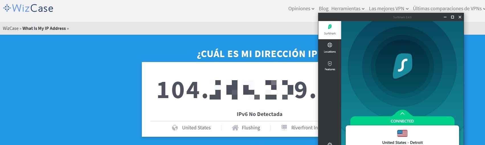 Herramienta Wizcase: ¿Cuál es mi IP?