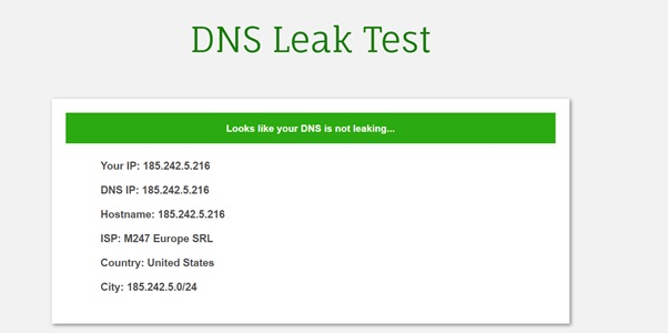 Surfshark dns leak test