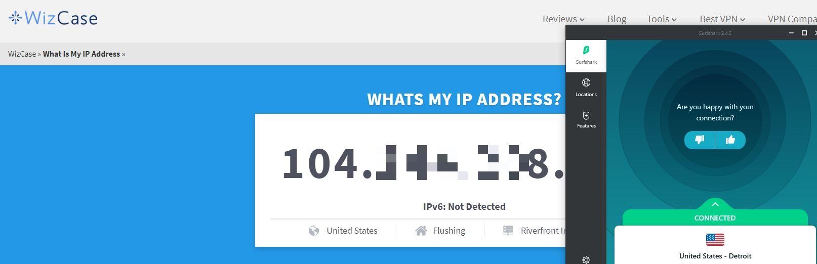 Ferramenta Wizcase: qual é o meu IP?