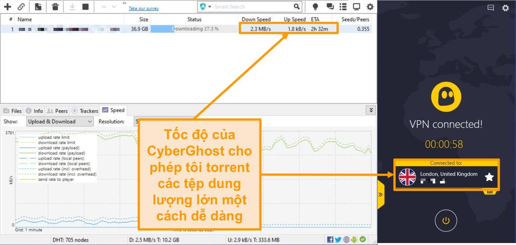 Ảnh chụp màn hình BitTorrent tải xuống tệp torrent