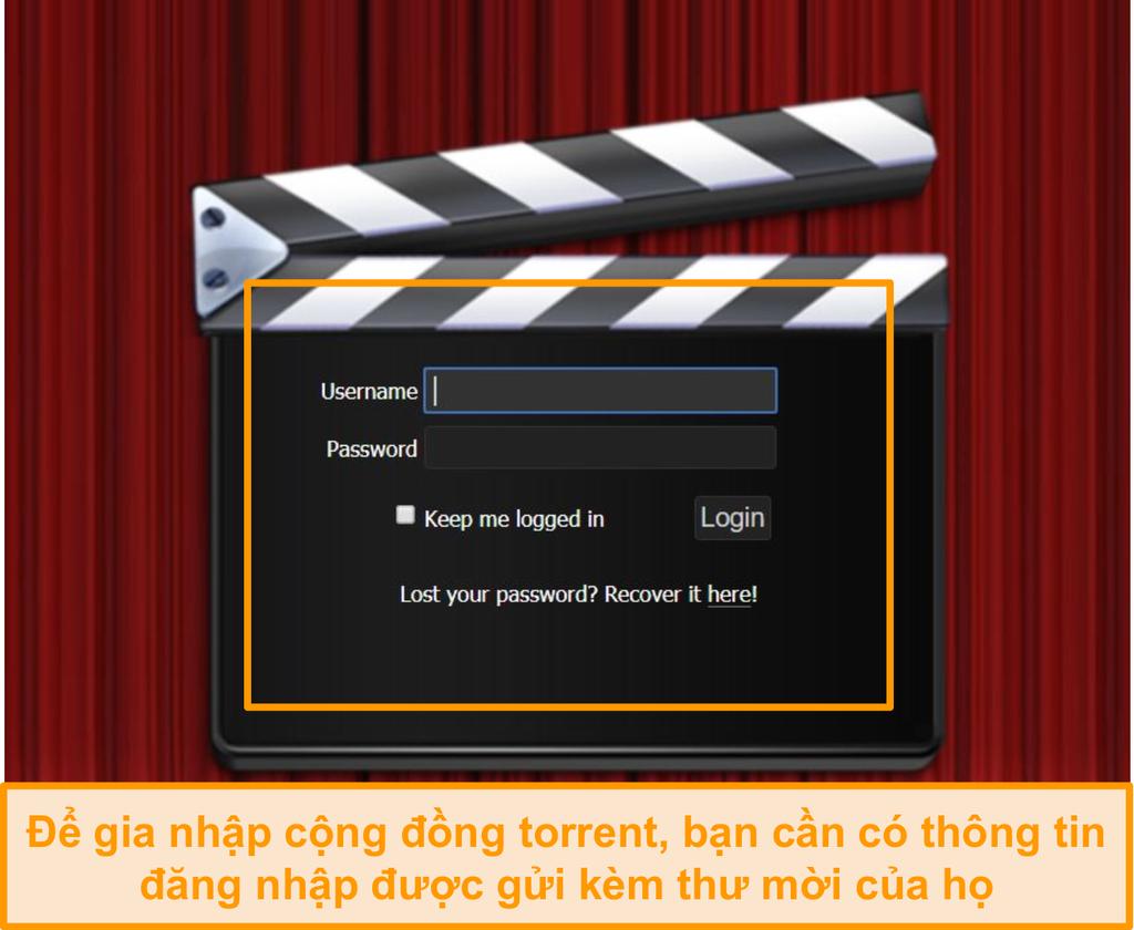 Ảnh chụp màn hình trang đăng nhập PassThePopcorn