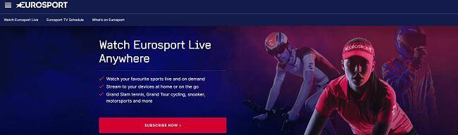 Stream Eurosport from anywhere