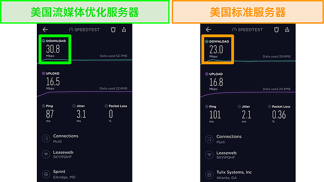 Ookla iOS 速度测试截图