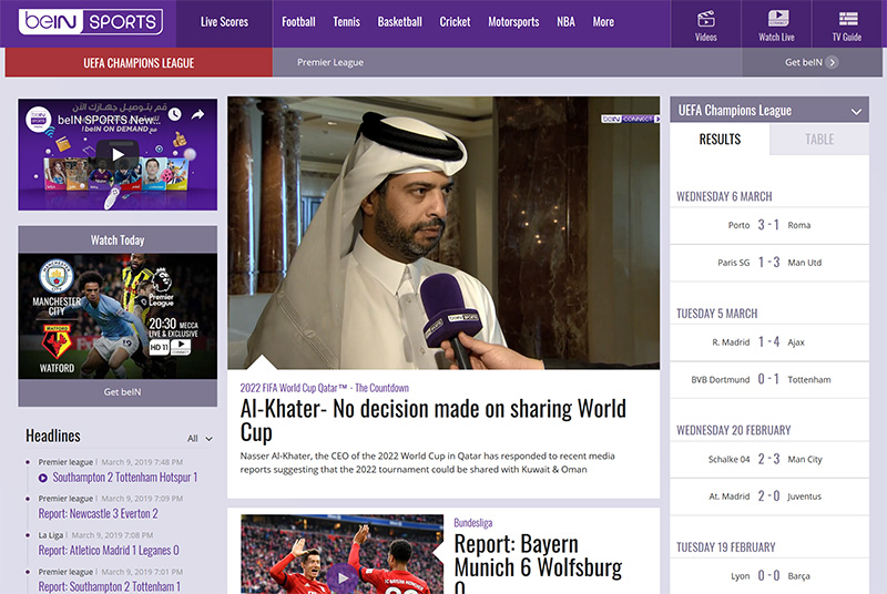 BeIN Sports access vpn