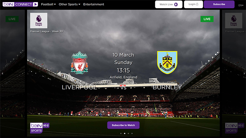 Bein Sports Connect watch online vpn