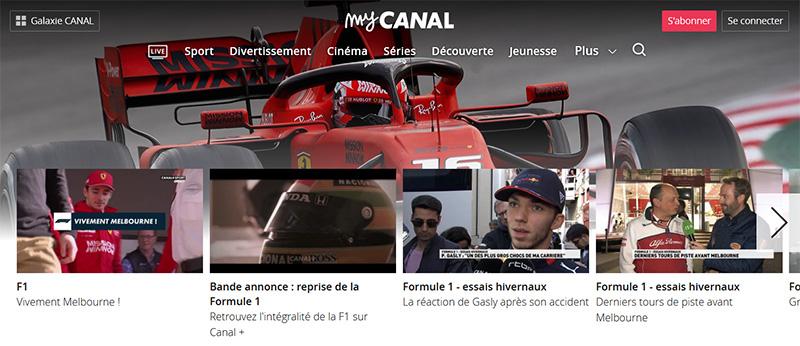 Canal+ Australian Grand Prix Formula 1 vpn