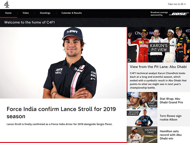 Channel 4 F1