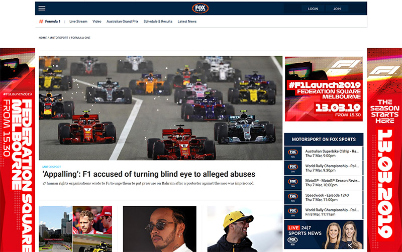 Fox sports formula one