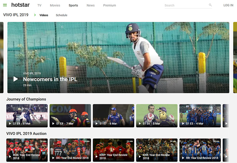 Hotstar Indian Premier League online vpn