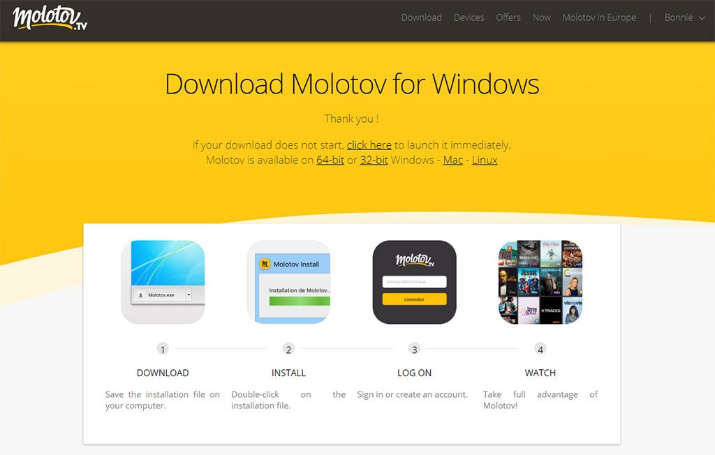 Molotov TV client app download