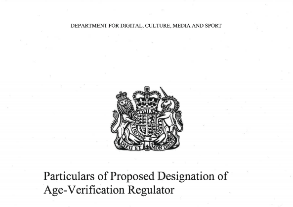 Particulars of Proposed Designation of Age-Verification Regulator