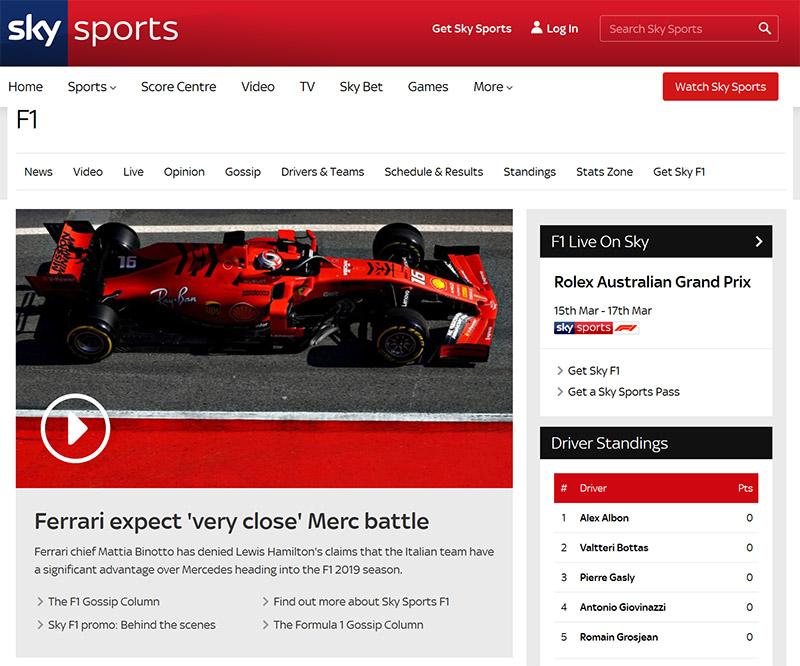 Sky Sports Formula 1
