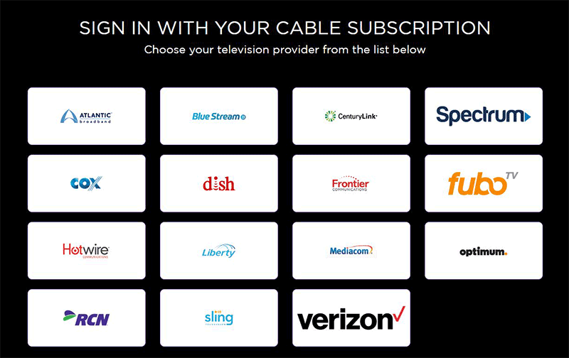 Sling TV cable providers