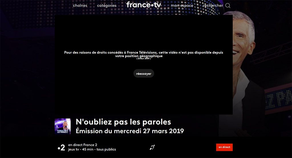 Stream France2 TV with vpn