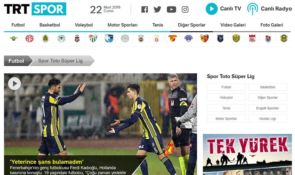 Super Lig TRT Turkey
