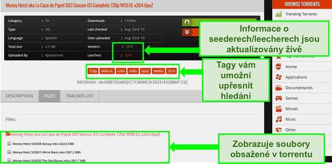 Screenshot stránky ke stažení 1337xTorrents