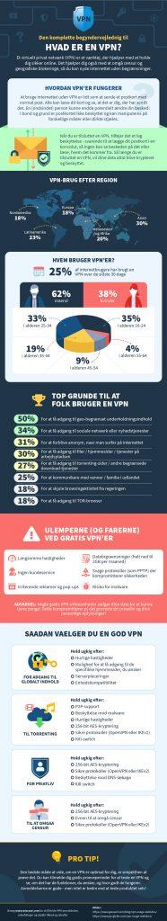 infografisk over, hvad der er en VPN