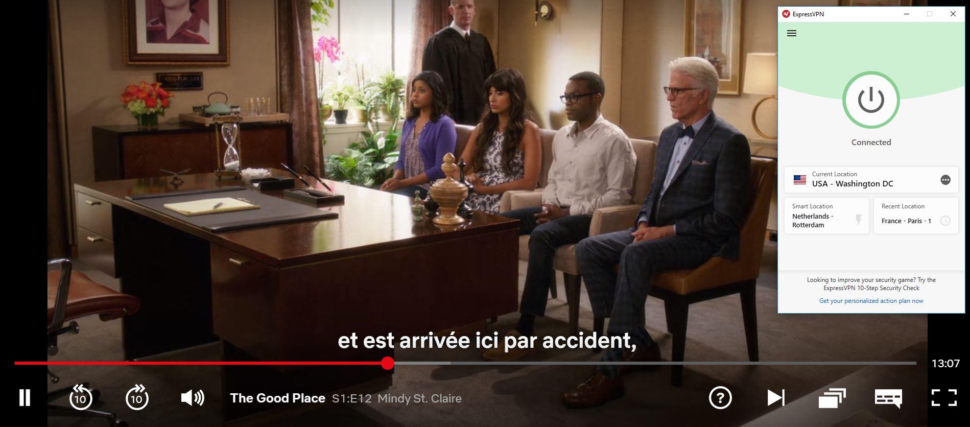ExpressVPN fonctionne avec Netflix