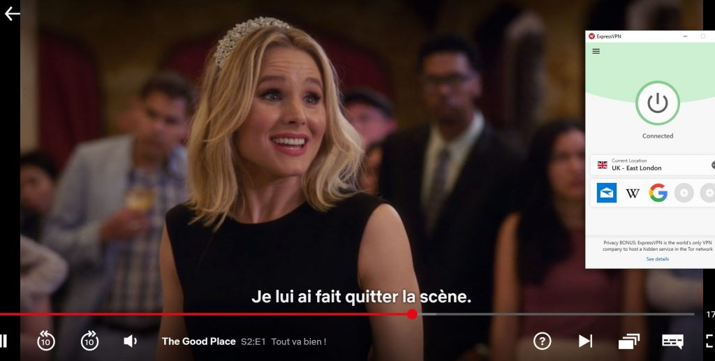 ExpressVPN works with Netflix UK French Subtitles