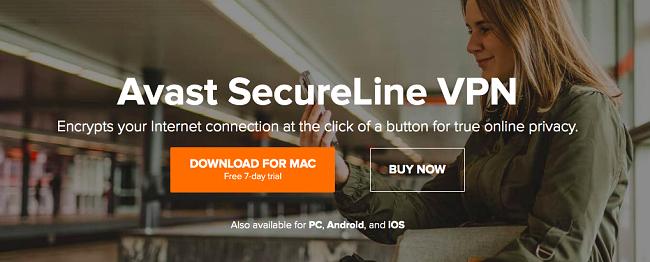 Free trial offer Avast Secureline VPN