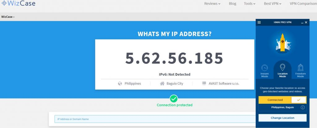 Get a Philippine IP Address with HideMyAss