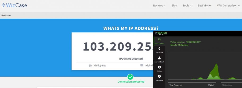 Get a Philippine IP Address with ipvANISH