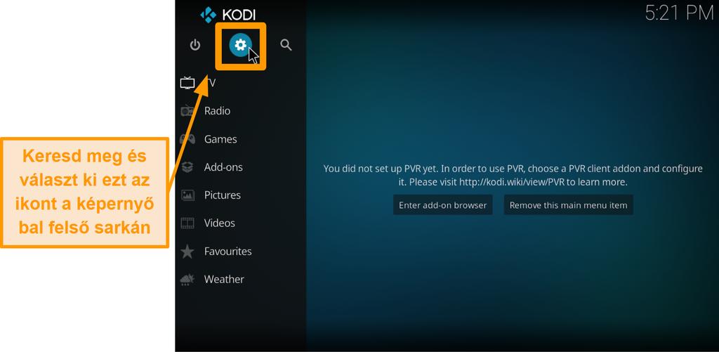 képernyőkép a harmadik fél kodi addon telepítésének lépéséről 2. lépés kattintson a doboz ikonra