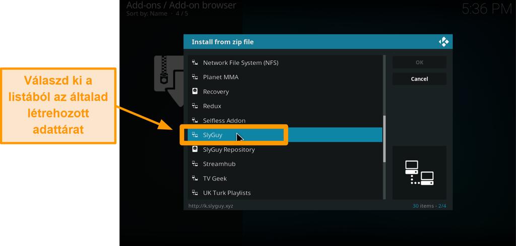 képernyőkép a harmadik féltől származó kodi addon telepítéséről 15. lépés válassza a repót