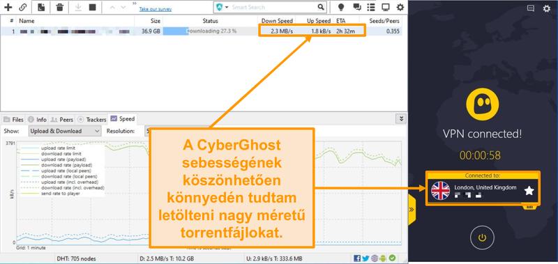 Képernyőkép: A BitTorrent torrentfájlt tölt le