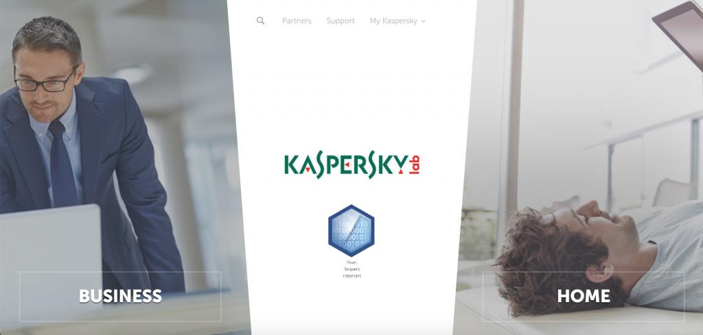 Kaspersky VPN homepage