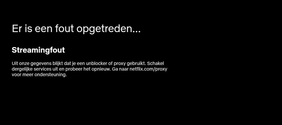 Netflix Streamingfout