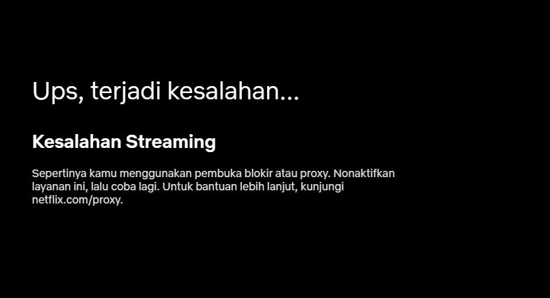 Netlflix Kesalahan Streaming