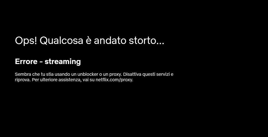 Netflix Errore - Streaming