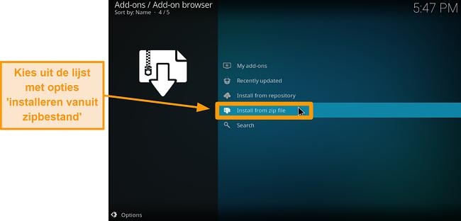 screenshot hoe je kodi add-on van derden installeert stap 14 klik op installeren vanuit zip-bestand
